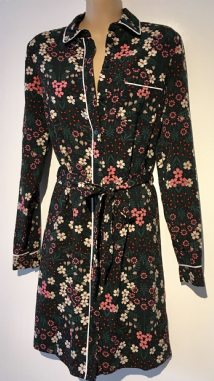 FLORAL WONDERLAND LONG SLEEVED SHIRT DRESS NEW SIZES UK 6-22